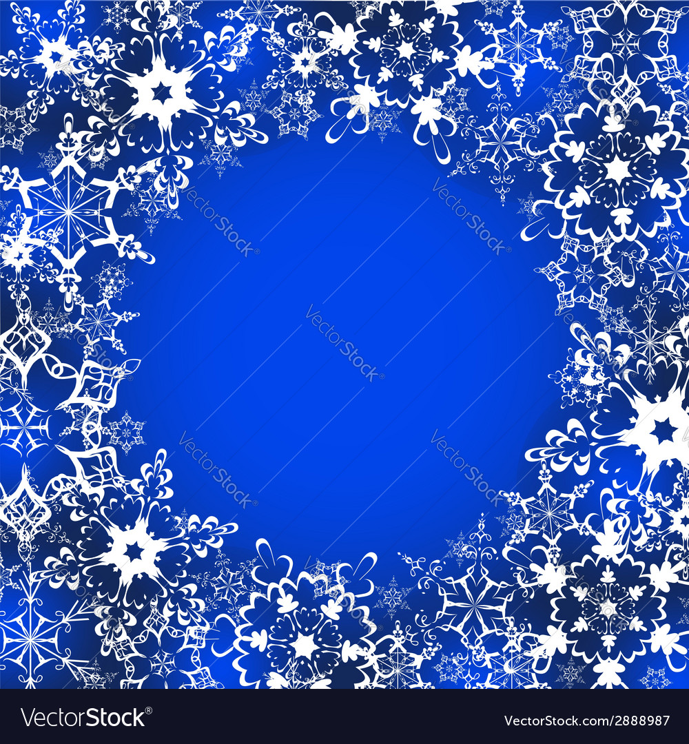 Decorative winter frame with ornate snowflakes vector | Price: 1 Credit (USD $1)