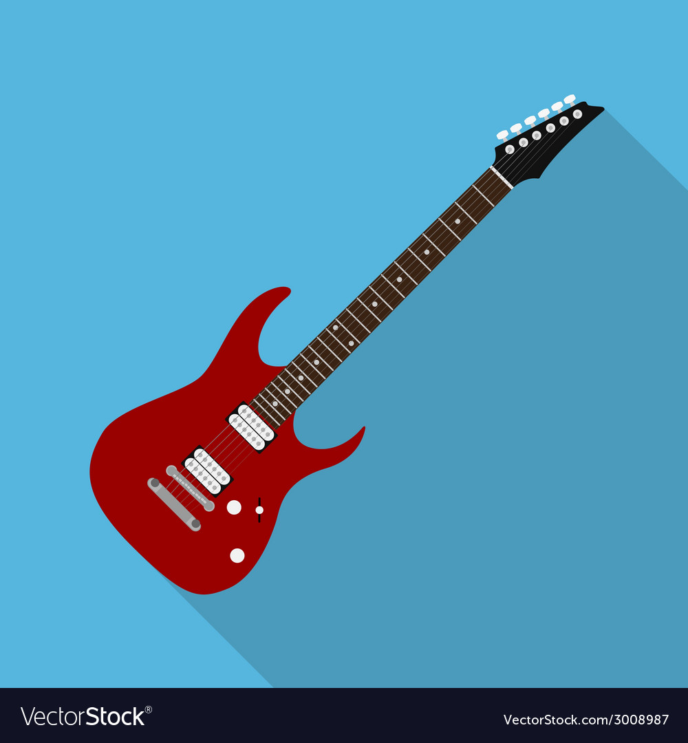 Flat guitar 6 vector | Price: 1 Credit (USD $1)