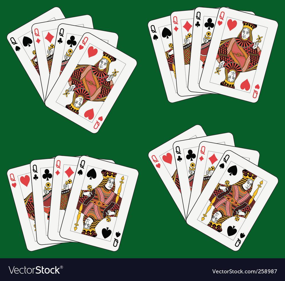 Four queens vector | Price: 1 Credit (USD $1)