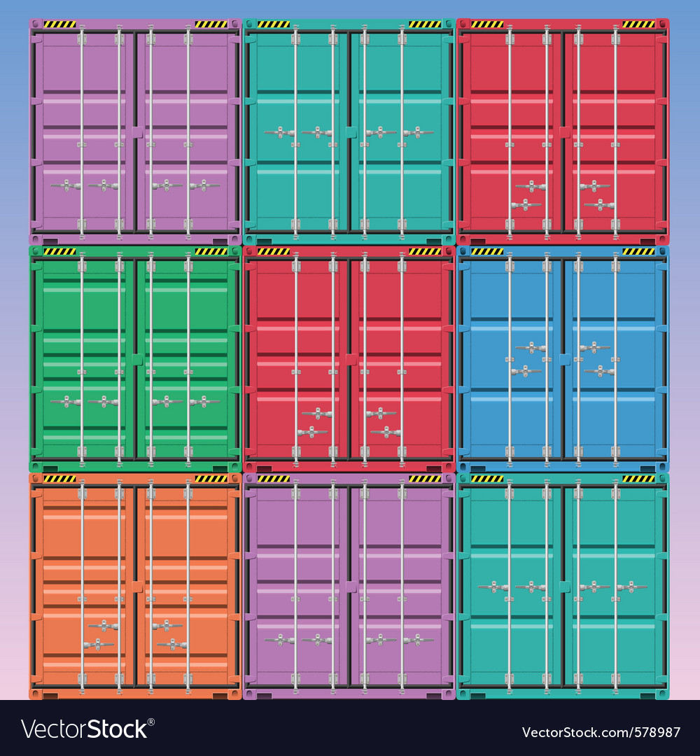 Freight containers vector | Price: 3 Credit (USD $3)