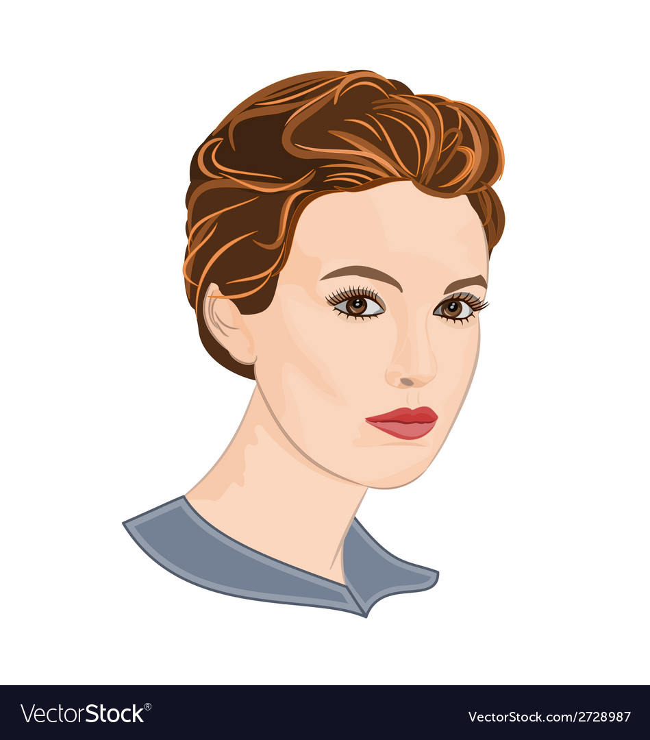 Girl with short hair vector | Price: 1 Credit (USD $1)