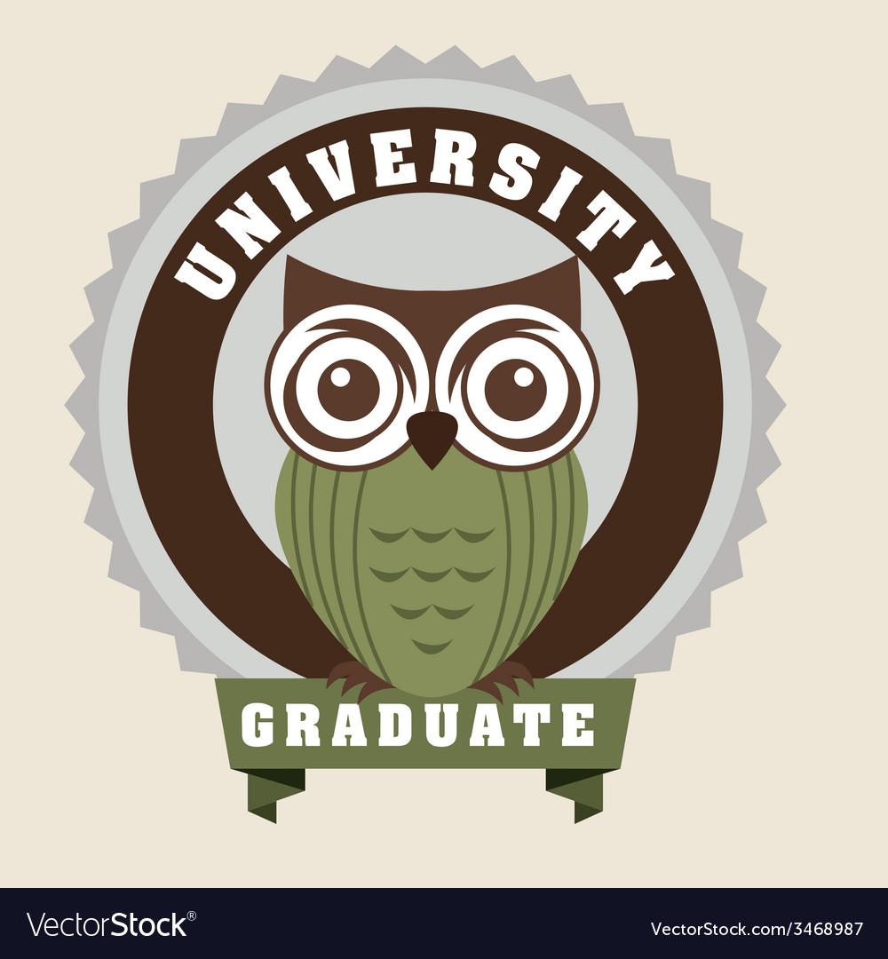 Graduate design vector | Price: 1 Credit (USD $1)