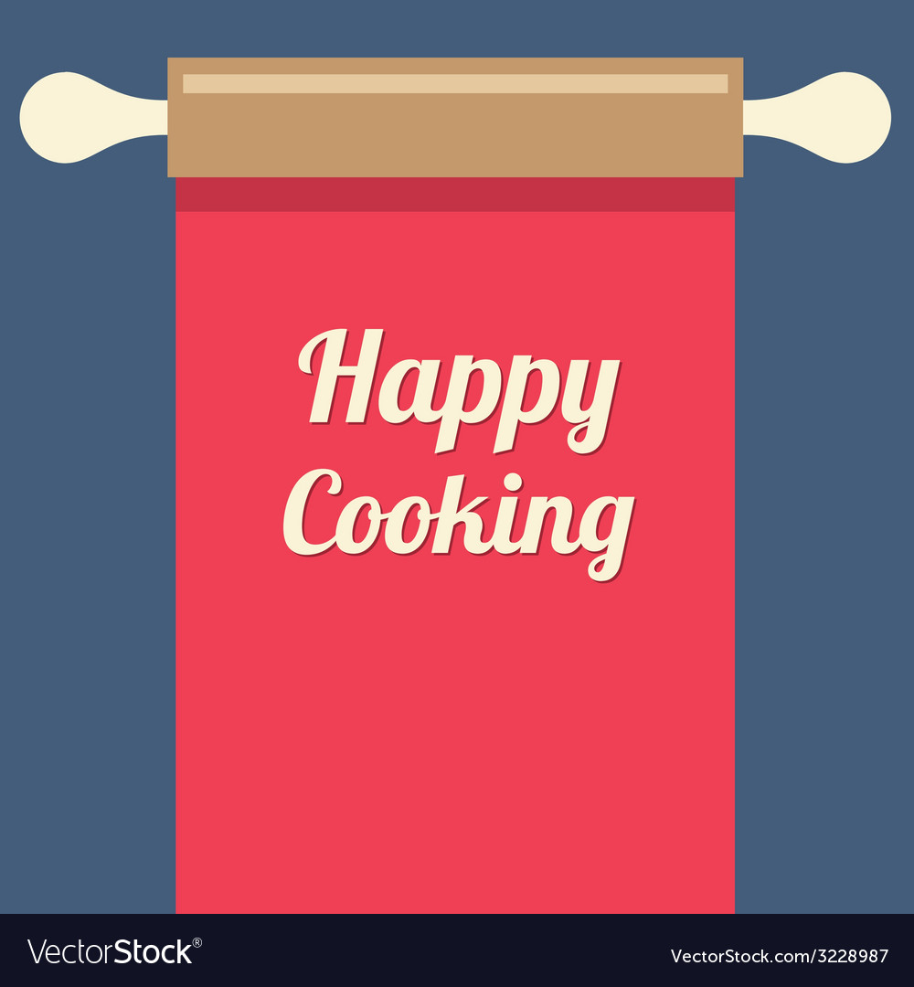 Happy cooking concept vector | Price: 1 Credit (USD $1)