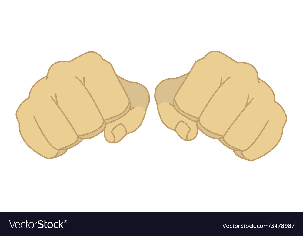 Male clenched fists vector | Price: 1 Credit (USD $1)