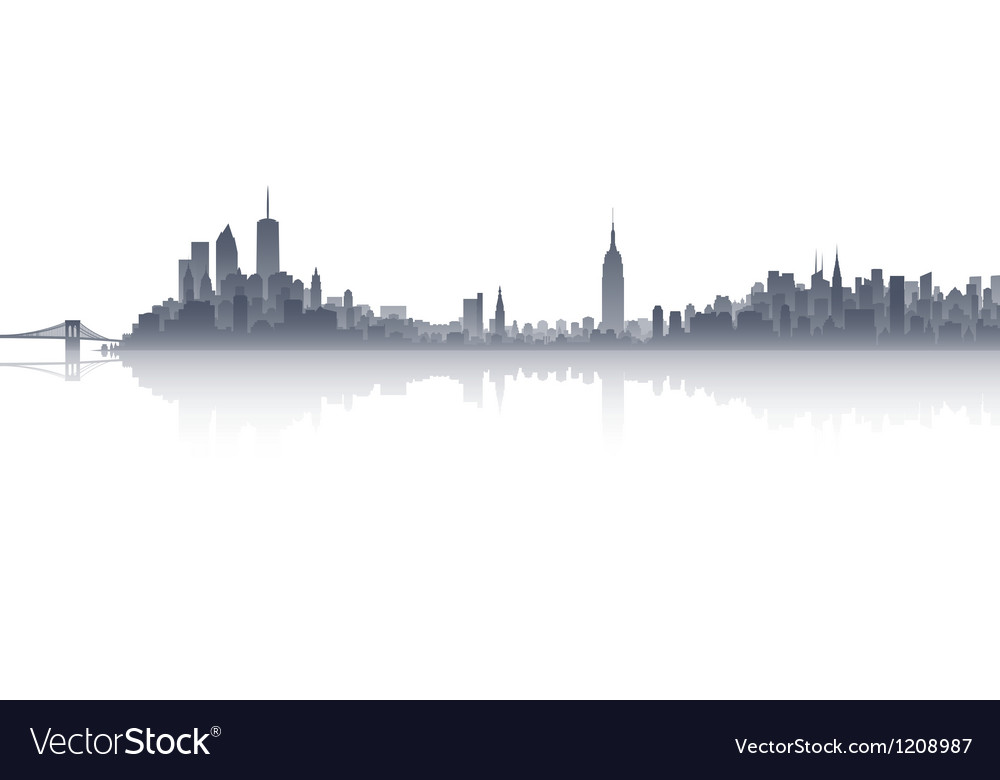 New york city skyline vector | Price: 1 Credit (USD $1)