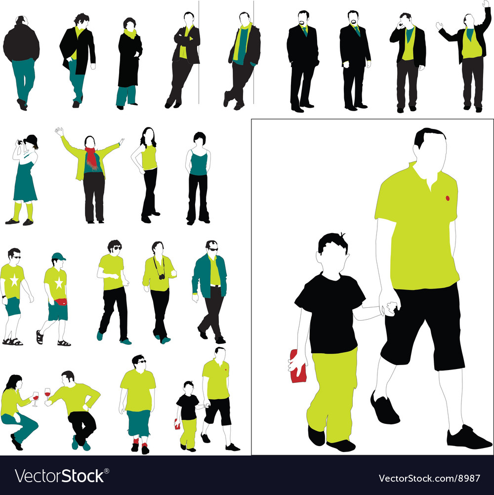 People vector | Price: 3 Credit (USD $3)