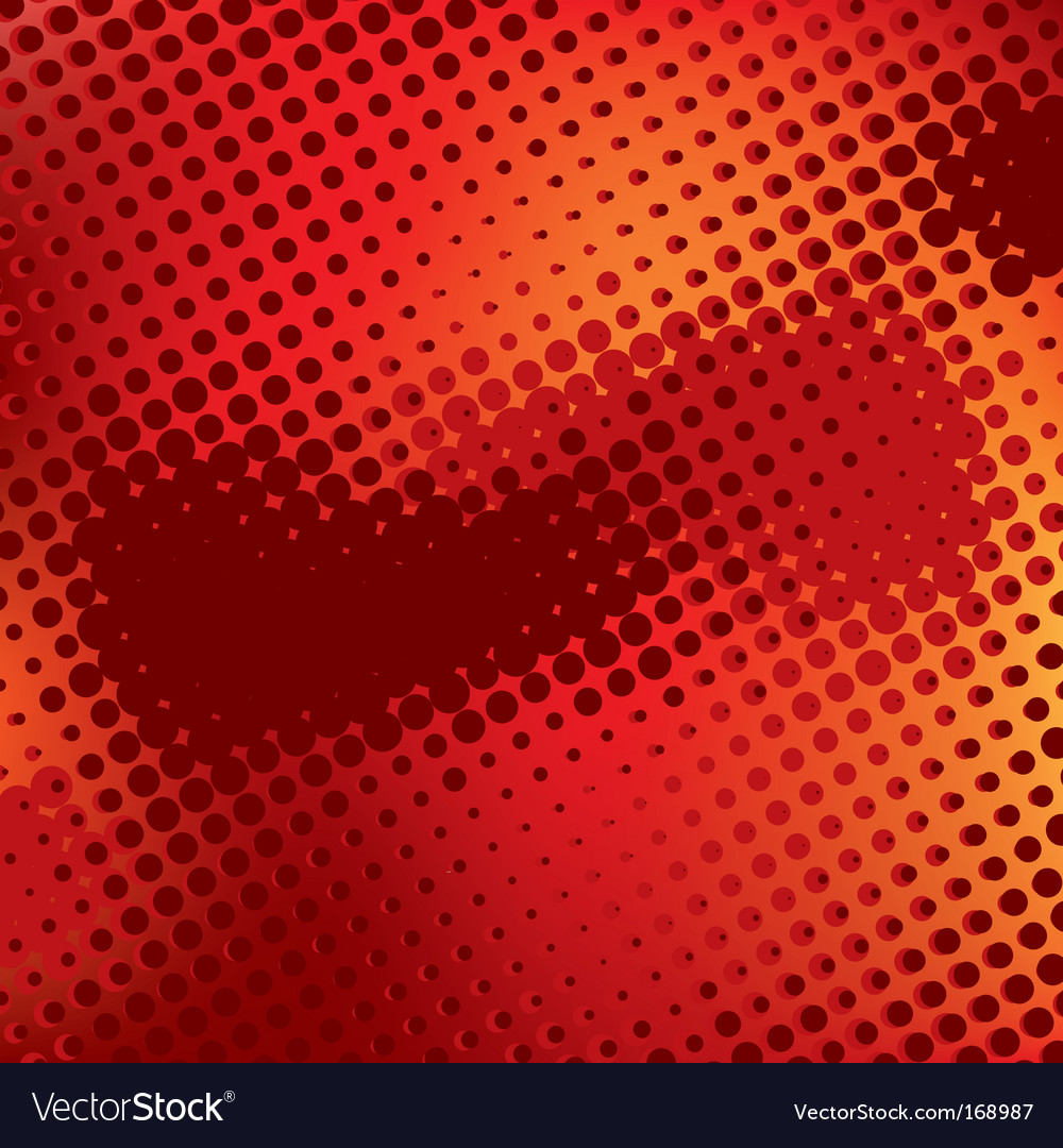 Red abstract background with halftone vector | Price: 1 Credit (USD $1)