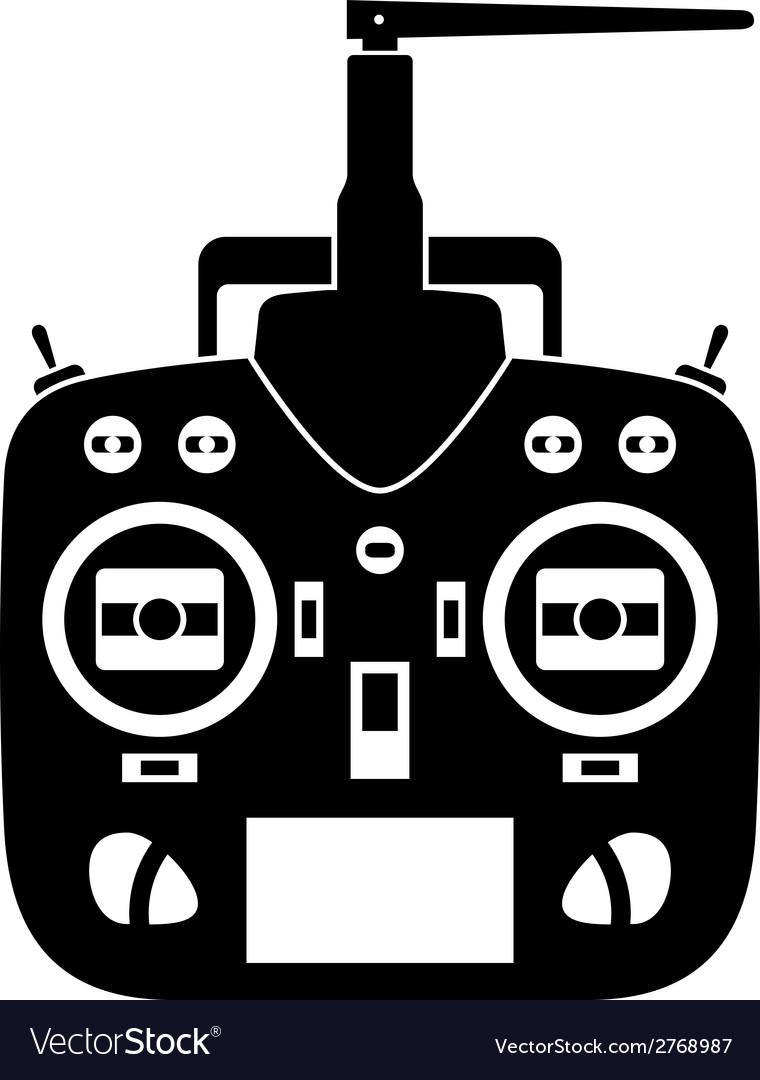 Remote control rc transmitter black icon vector | Price: 1 Credit (USD $1)