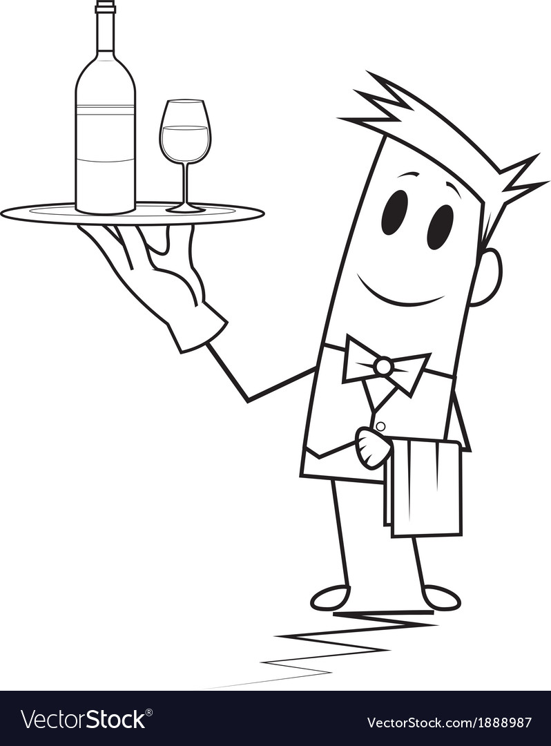 Square guy - waiter vector | Price: 1 Credit (USD $1)