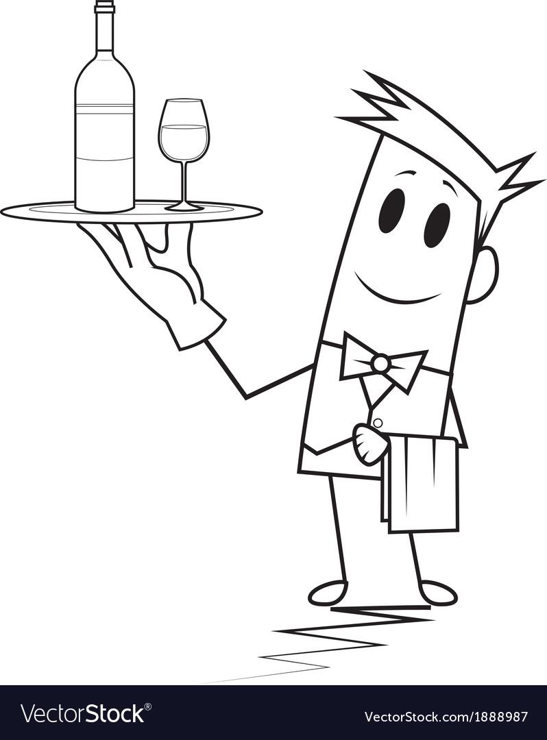 Square guy - waiter vector | Price: 1 Credit (USD $1)