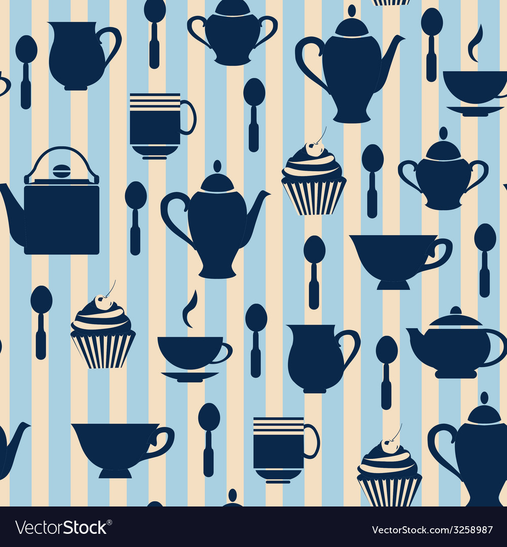 Teatime background - vector | Price: 1 Credit (USD $1)