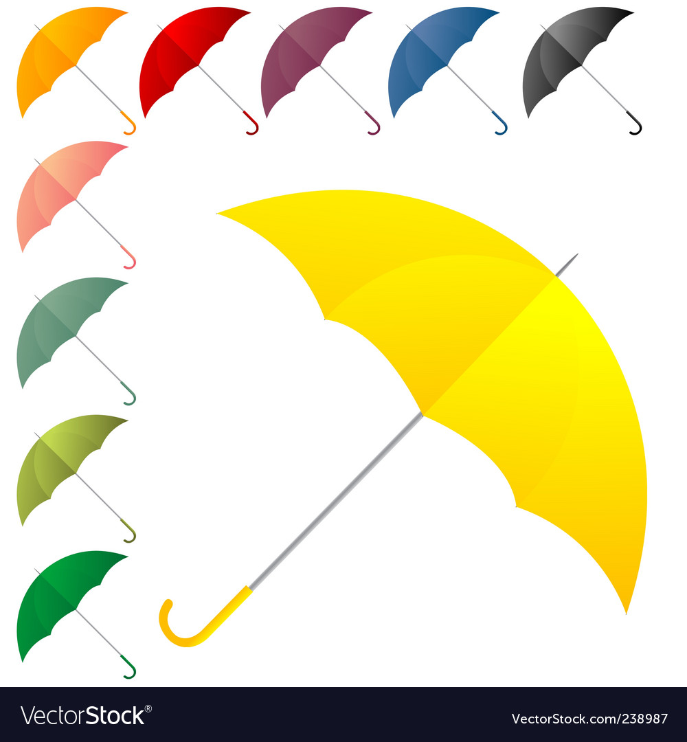 Umbrella collection vector | Price: 1 Credit (USD $1)