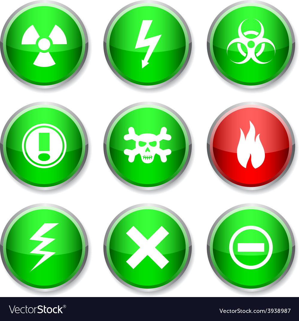 Warning round icons vector | Price: 1 Credit (USD $1)