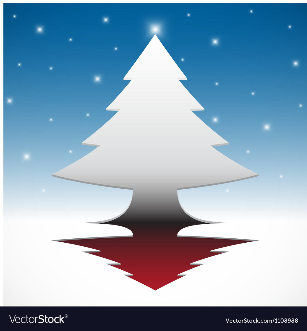 Abstract christmas tree background vector | Price: 1 Credit (USD $1)
