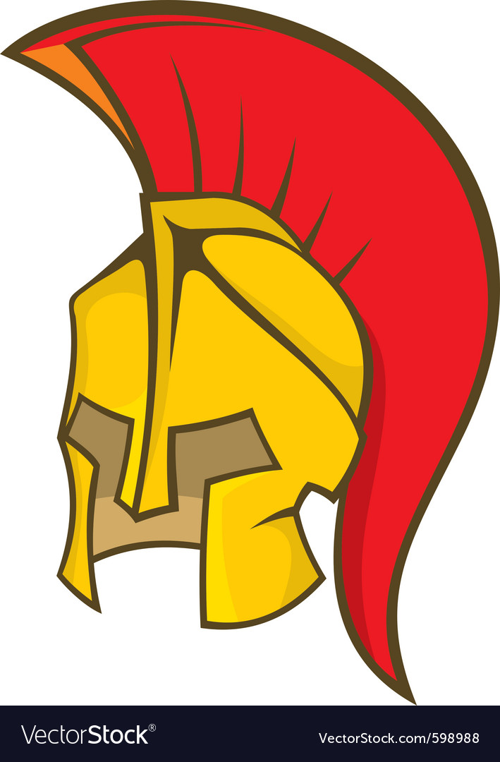 Ancient soldier helmet vector | Price: 1 Credit (USD $1)