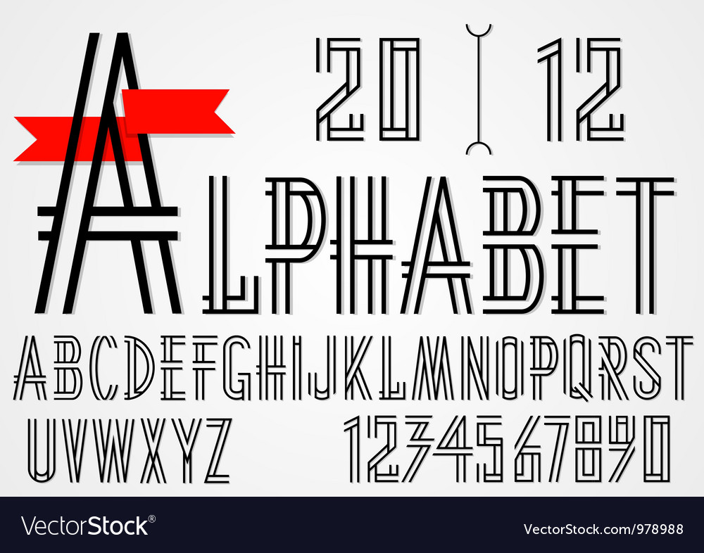 Black simple alphabet letters vector | Price: 1 Credit (USD $1)