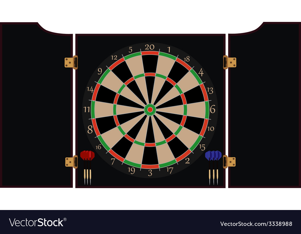 Dartboard cabinet vector | Price: 1 Credit (USD $1)