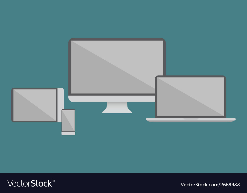 Flat design electronic devices vector | Price: 1 Credit (USD $1)