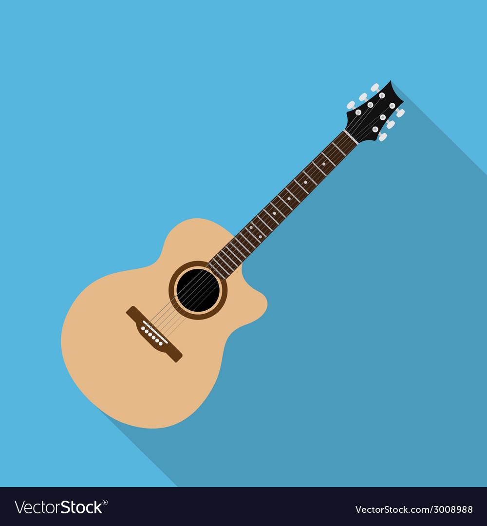 Flat guitar 7 vector | Price: 1 Credit (USD $1)