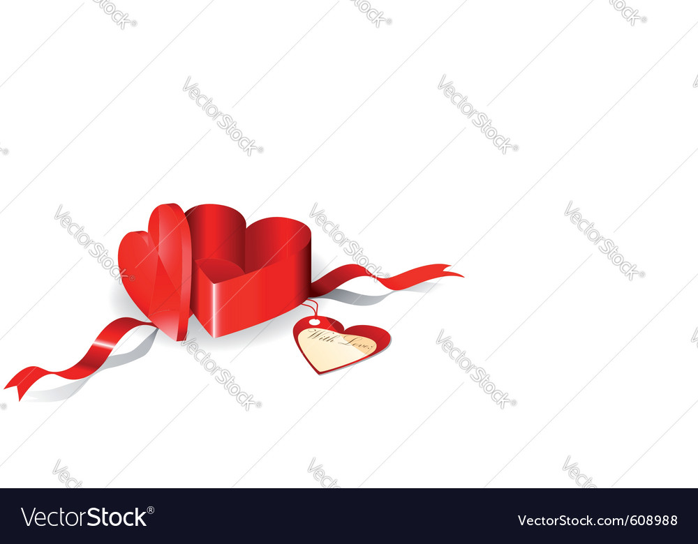 Gift box in a shape of heart vector | Price: 1 Credit (USD $1)