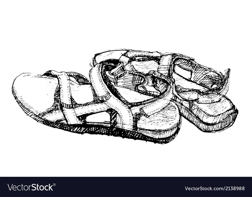Heel strap shoes vector | Price: 1 Credit (USD $1)