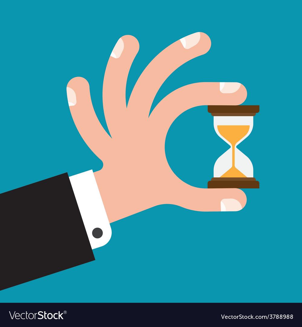 Hourglass in hands vector | Price: 1 Credit (USD $1)