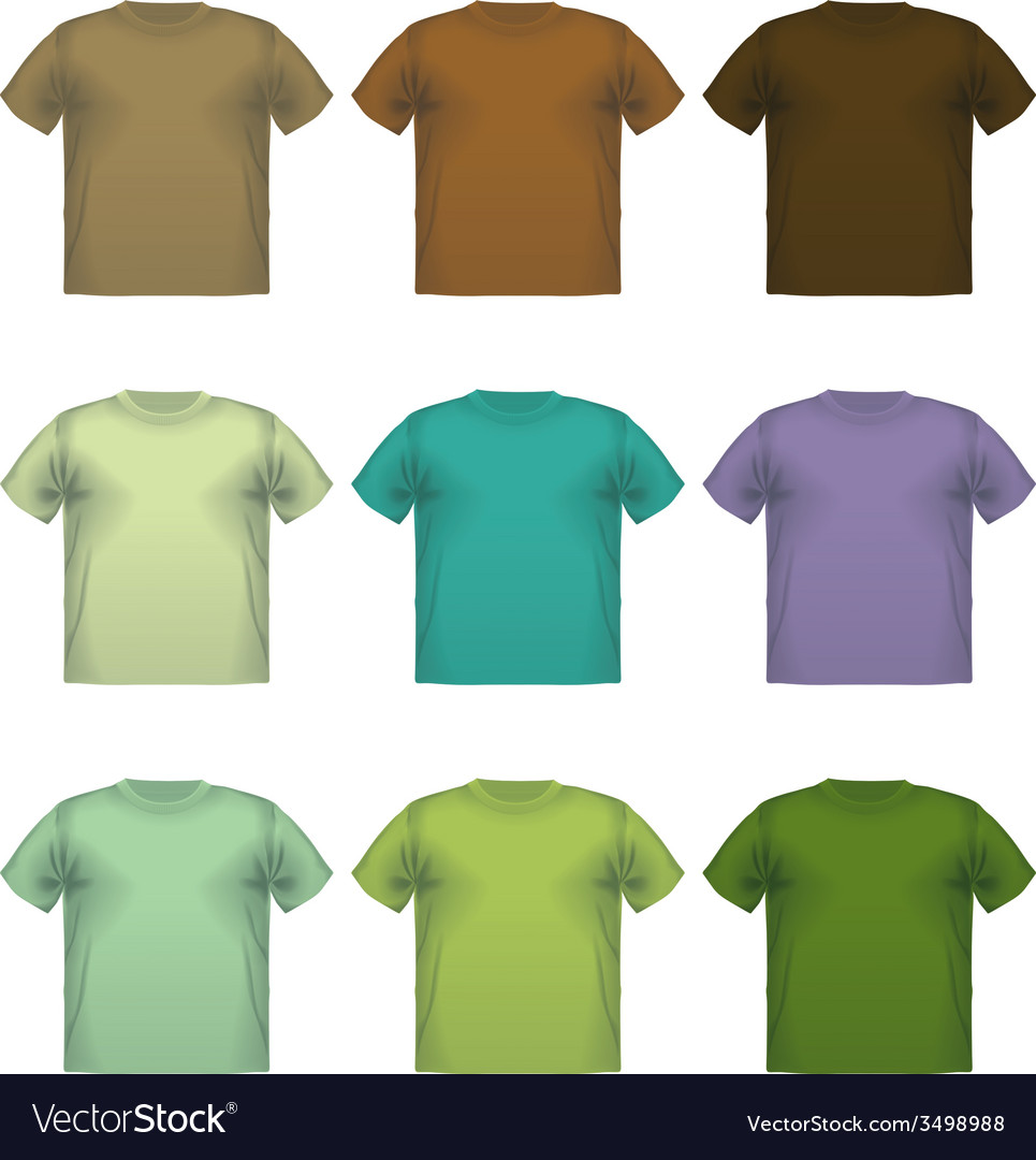 Set of colorful male t-shirts wear printing vector | Price: 1 Credit (USD $1)