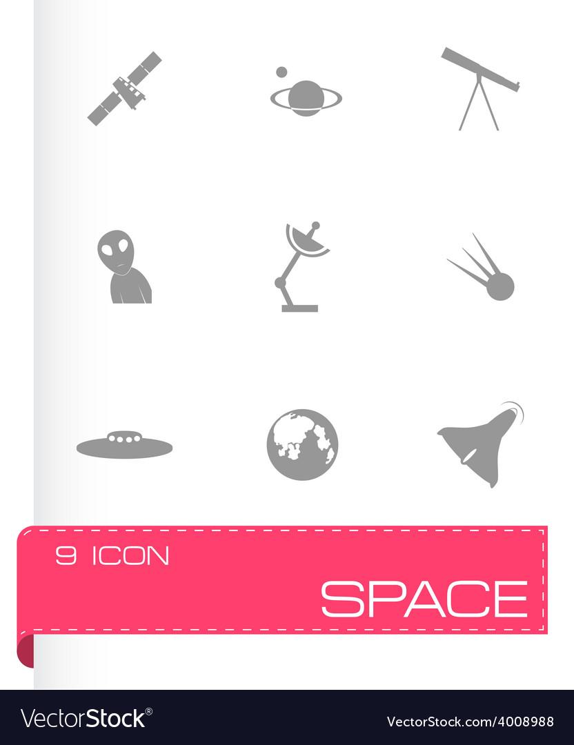 Space icon set vector | Price: 1 Credit (USD $1)