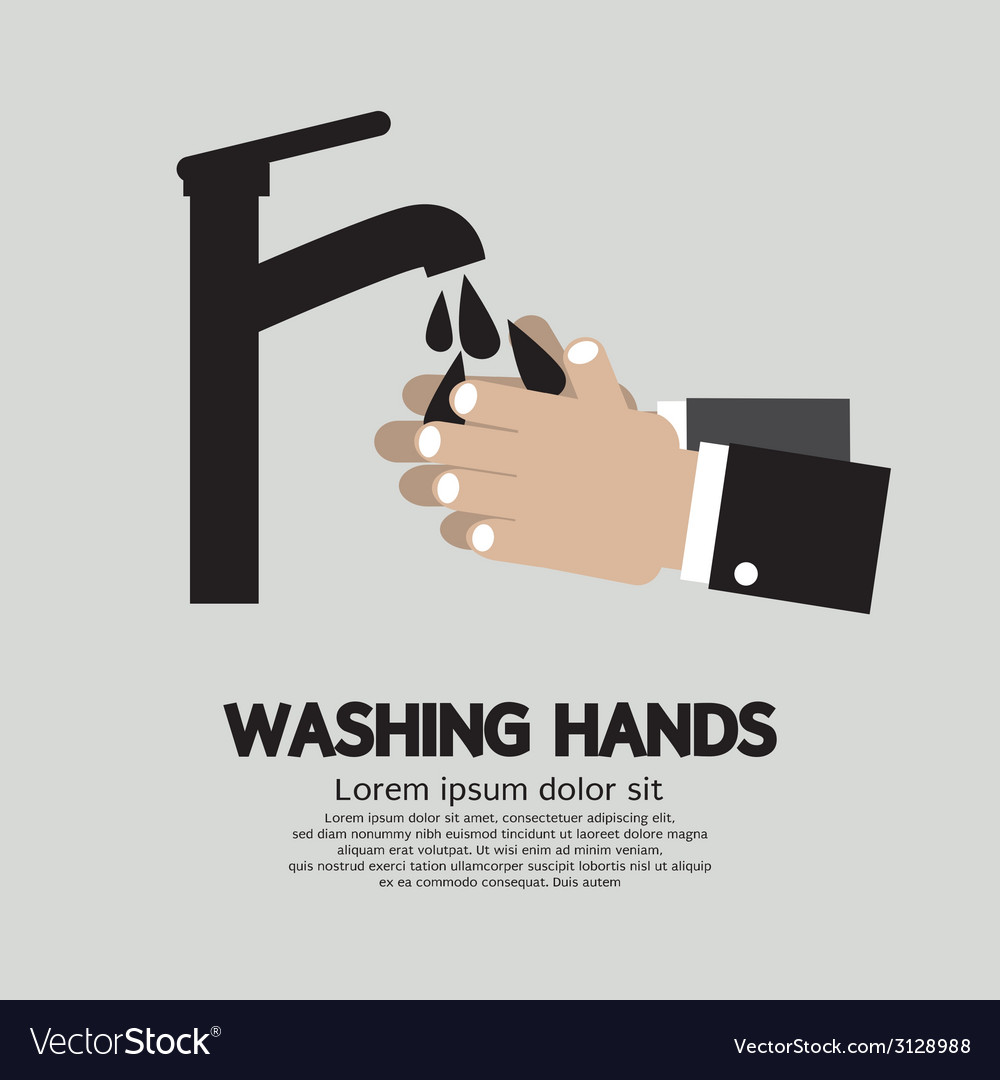Washing hands with faucet vector | Price: 1 Credit (USD $1)