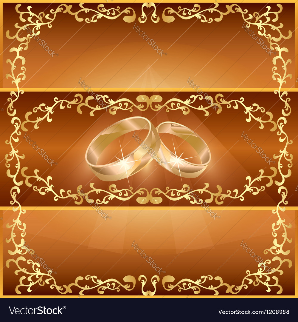 Wedding greeting or invitation card vector | Price: 1 Credit (USD $1)