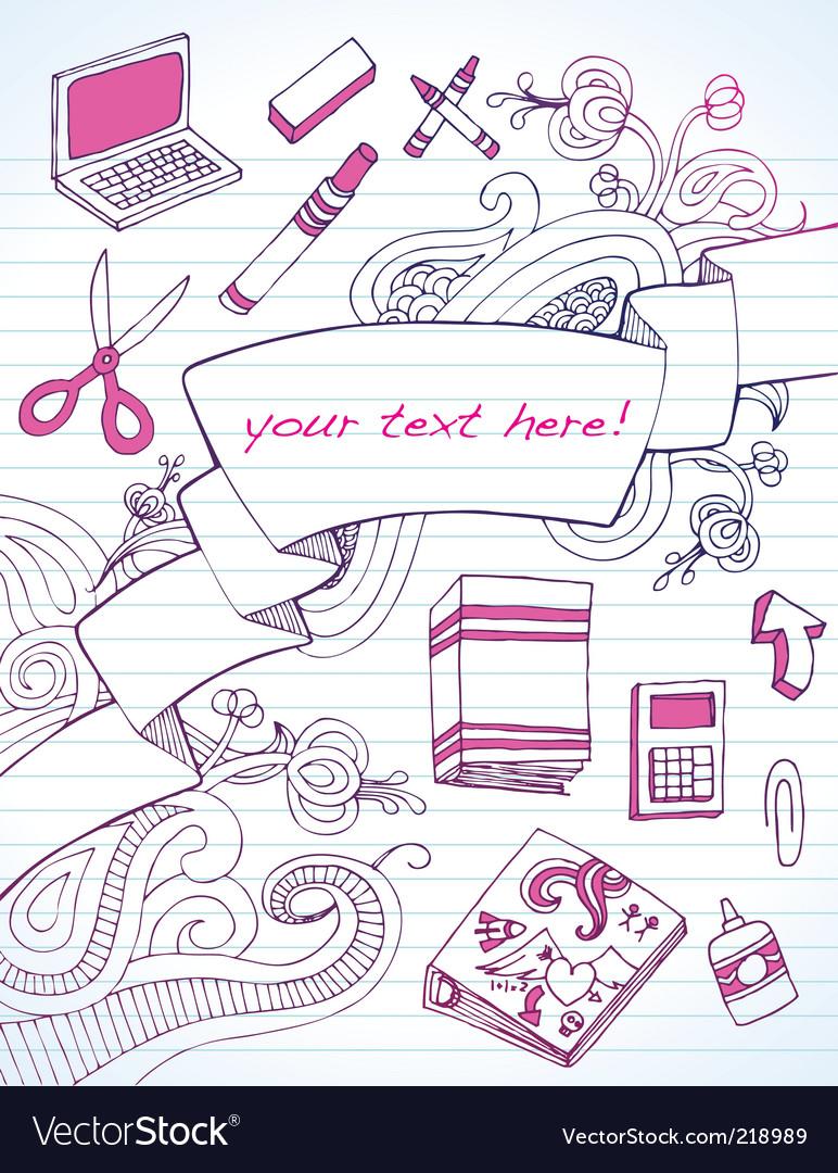 Back to school banner vector | Price: 1 Credit (USD $1)