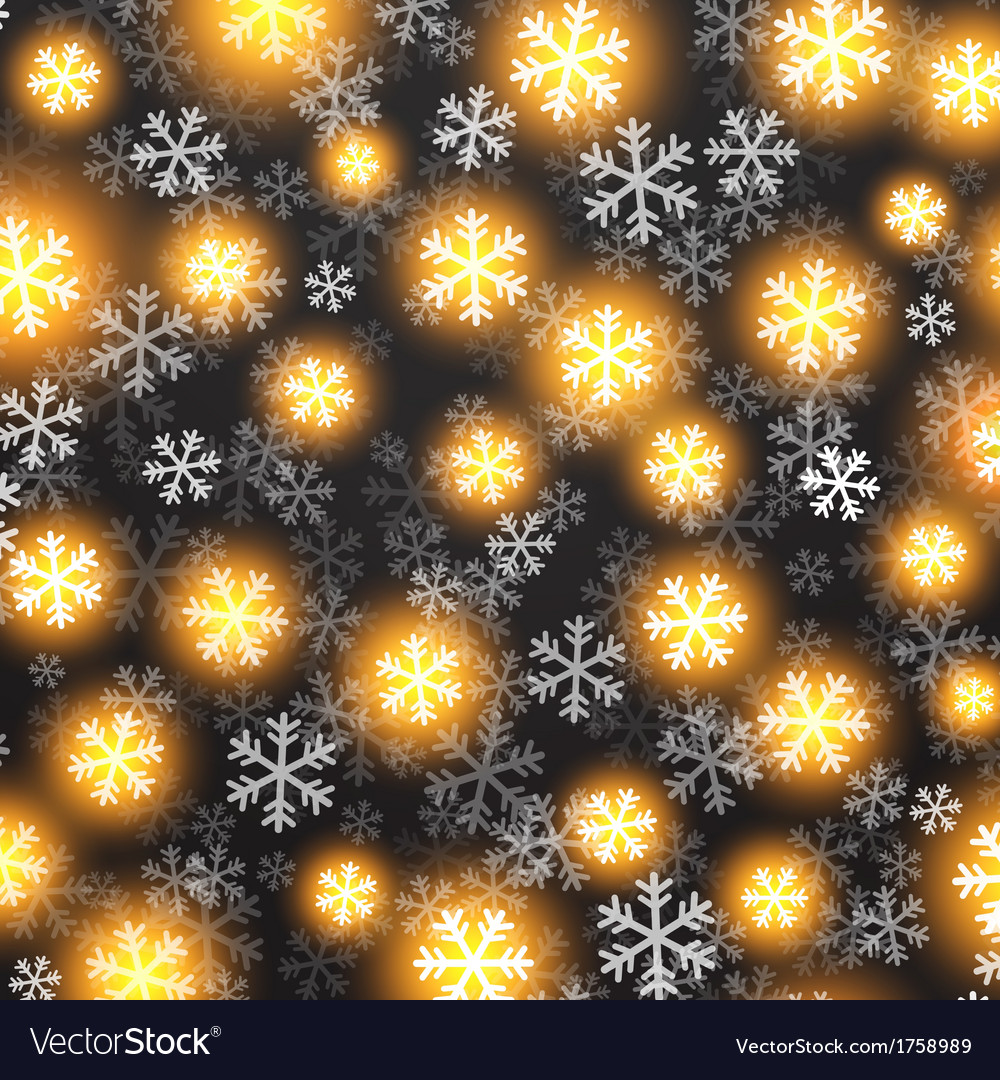 Background with golden falling snow on black vector | Price: 1 Credit (USD $1)