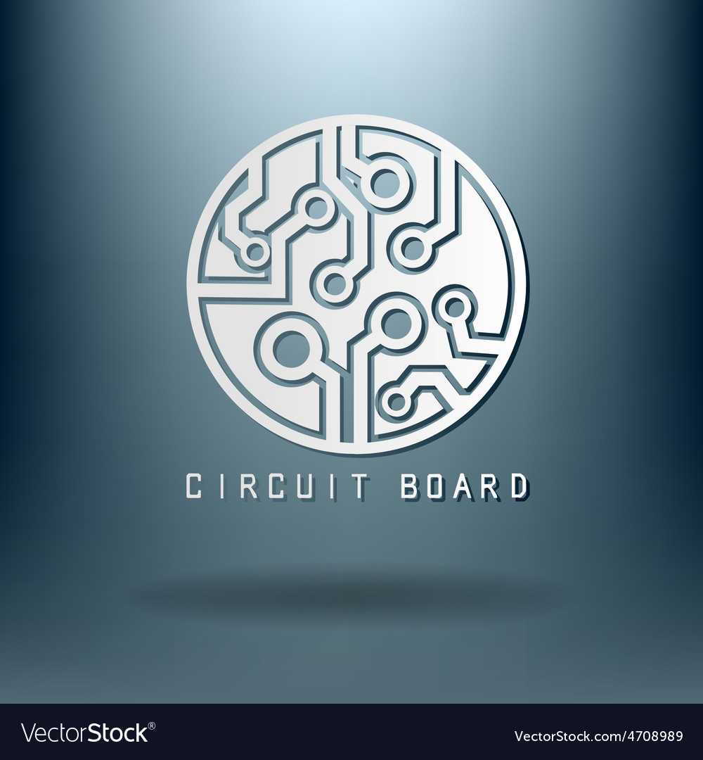 Circuit board sign icon technology scheme symbol vector | Price: 1 Credit (USD $1)