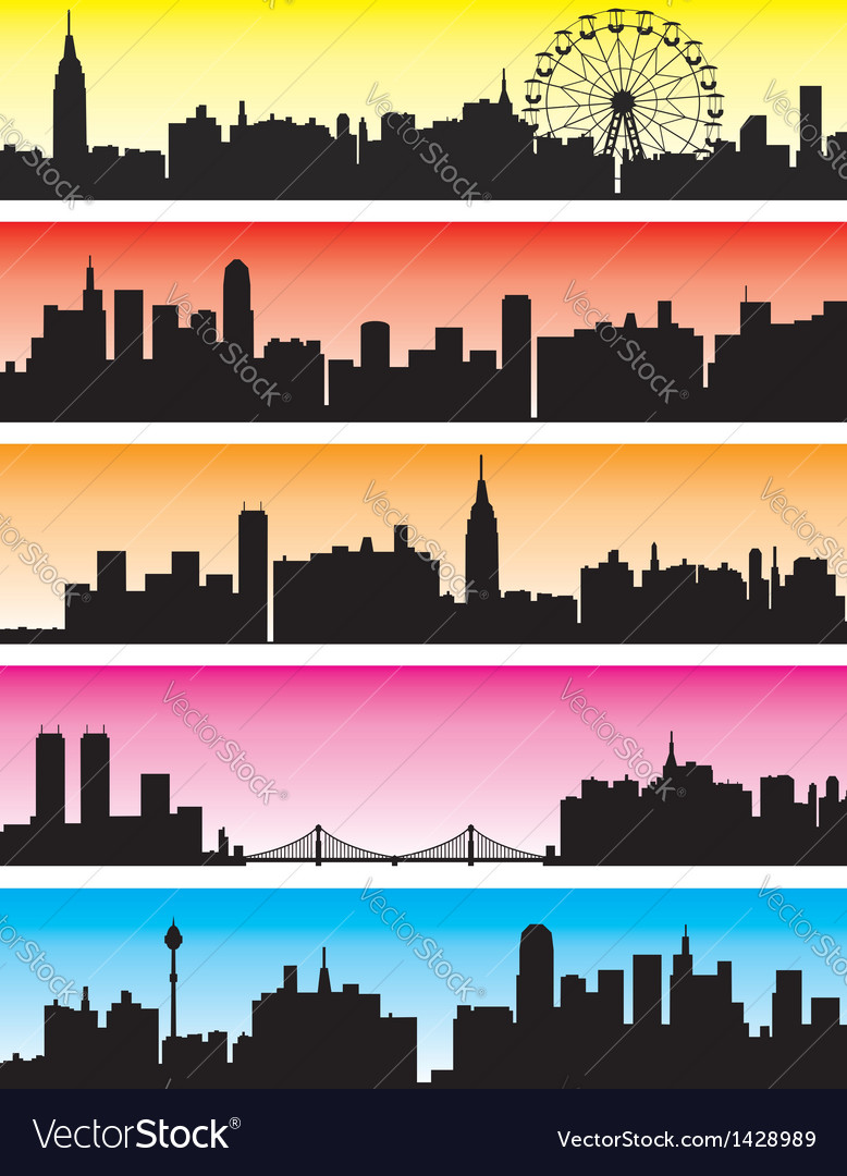 City backgrounds vector | Price: 1 Credit (USD $1)