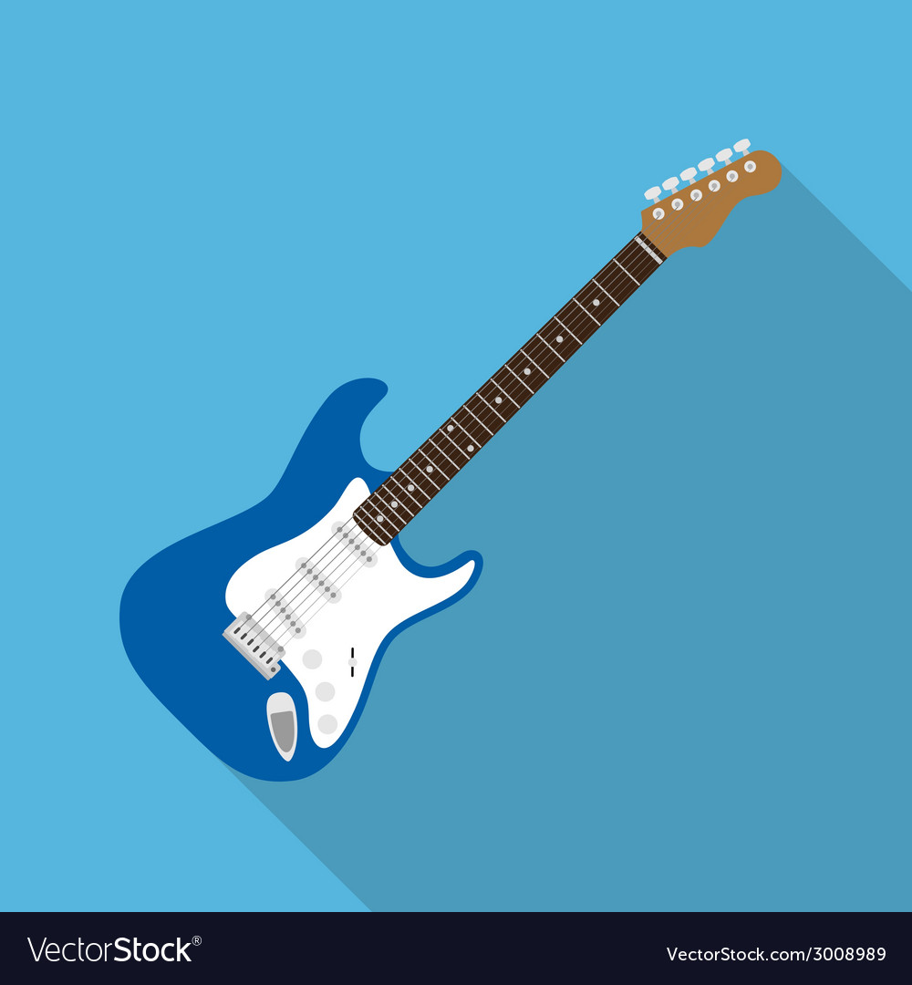 Flat guitar vector | Price: 1 Credit (USD $1)