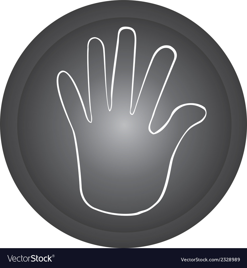 Hand stop button vector | Price: 1 Credit (USD $1)