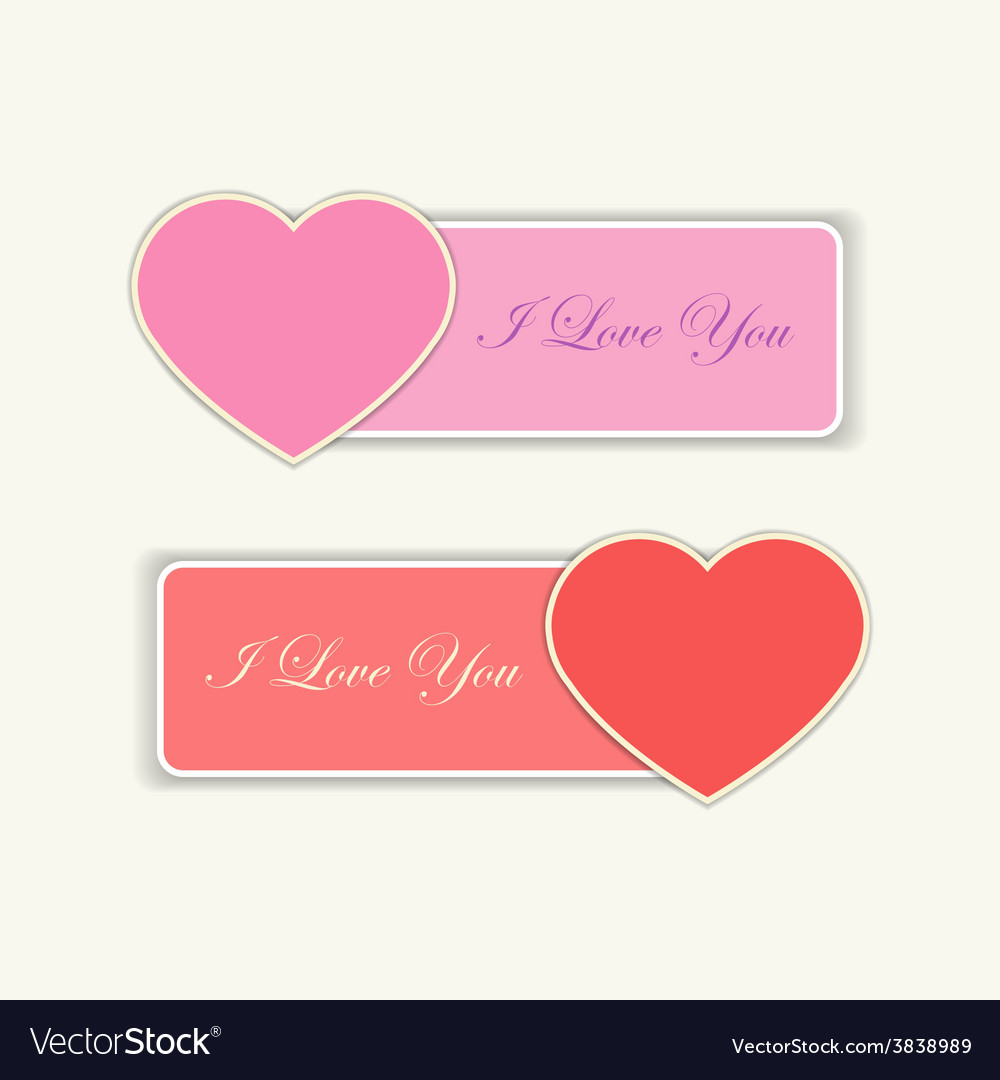 Love labels with i love you text vector | Price: 1 Credit (USD $1)