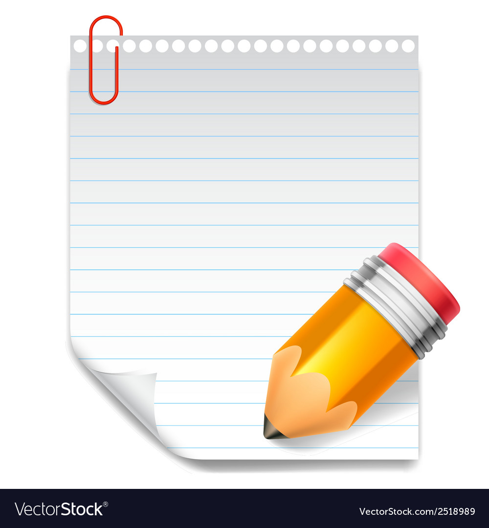 Note and pencil vector | Price: 1 Credit (USD $1)