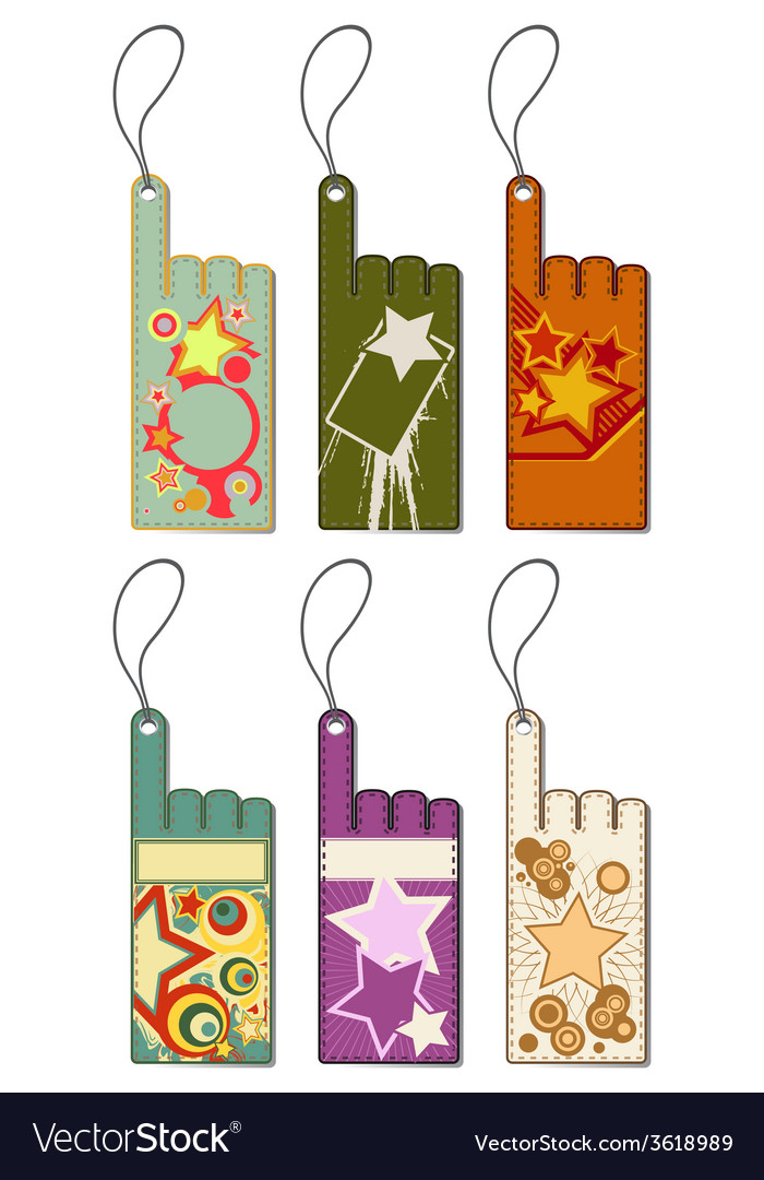 Set of price tags vector | Price: 1 Credit (USD $1)
