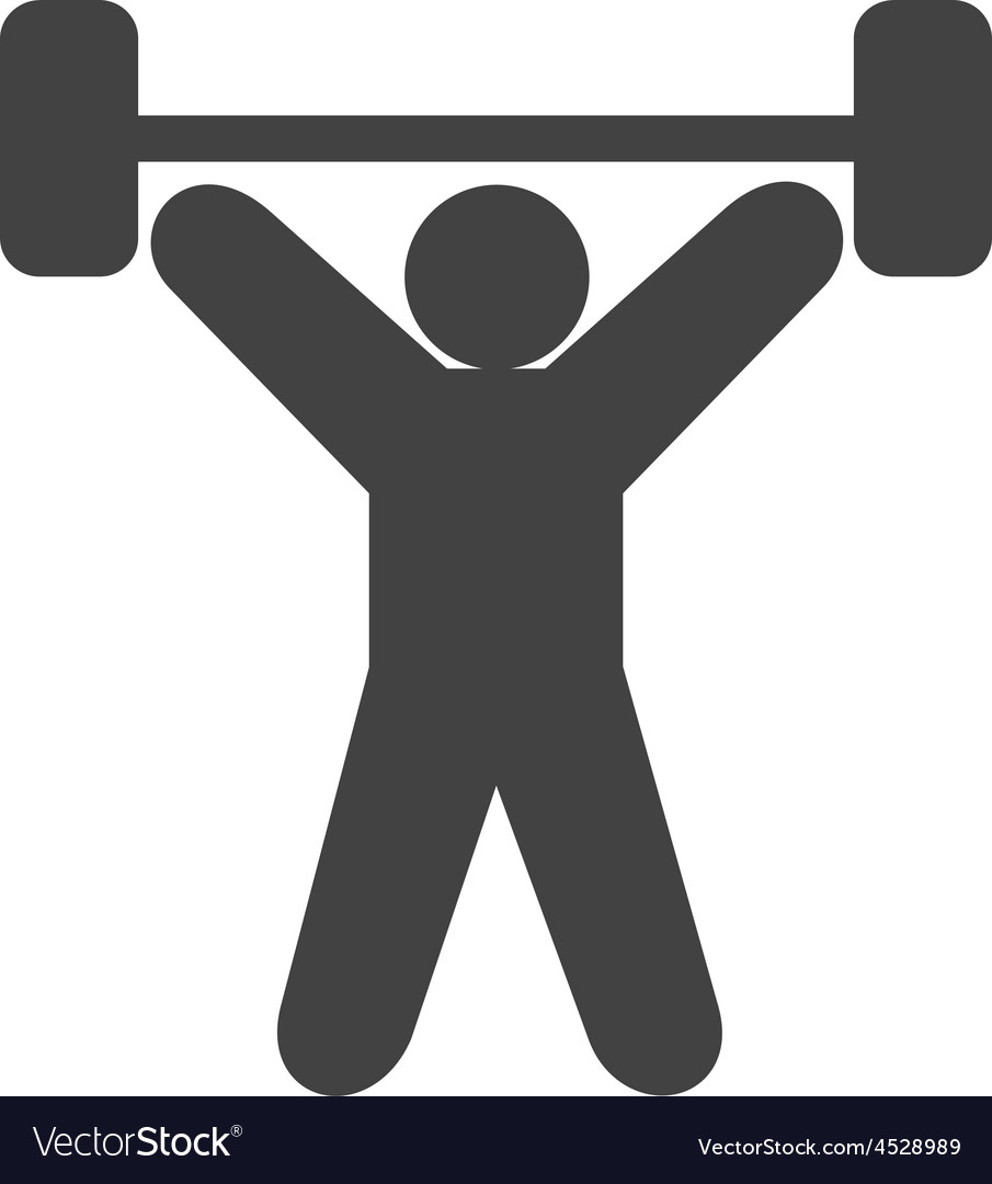 Weight lifting person vector | Price: 1 Credit (USD $1)