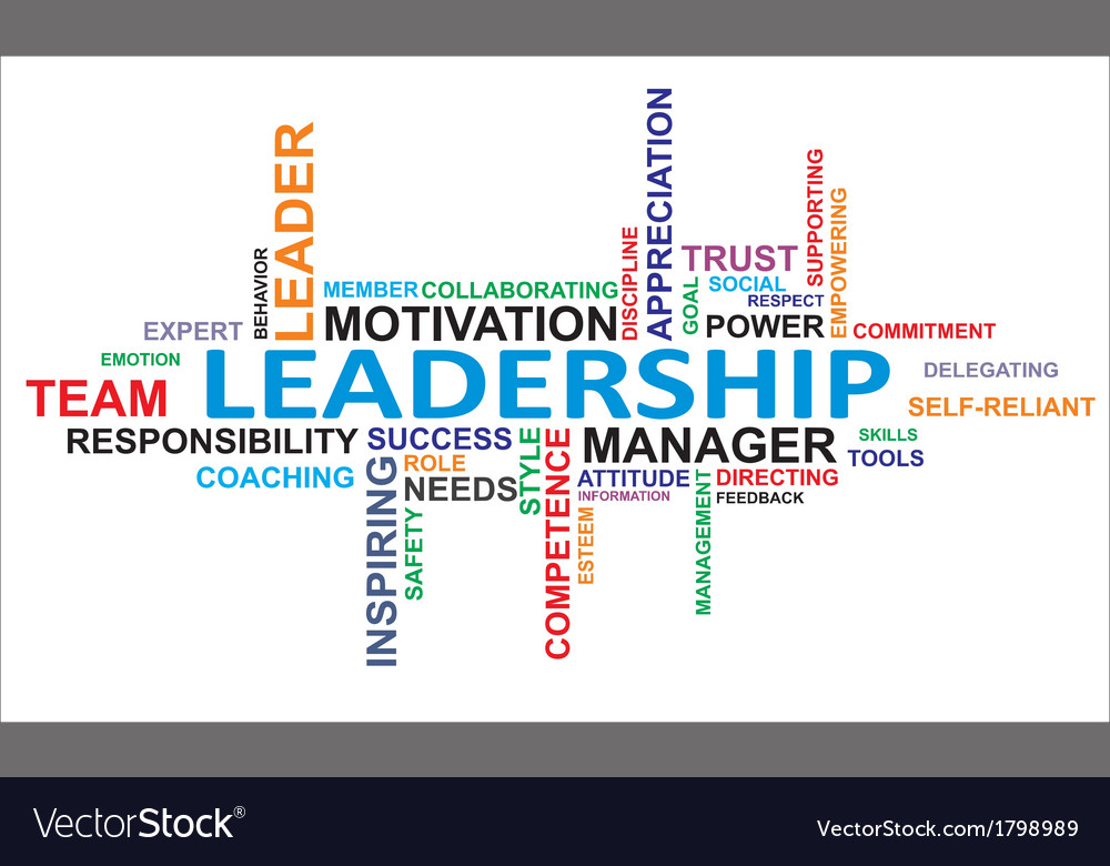 Word cloud leadership vector | Price: 1 Credit (USD $1)
