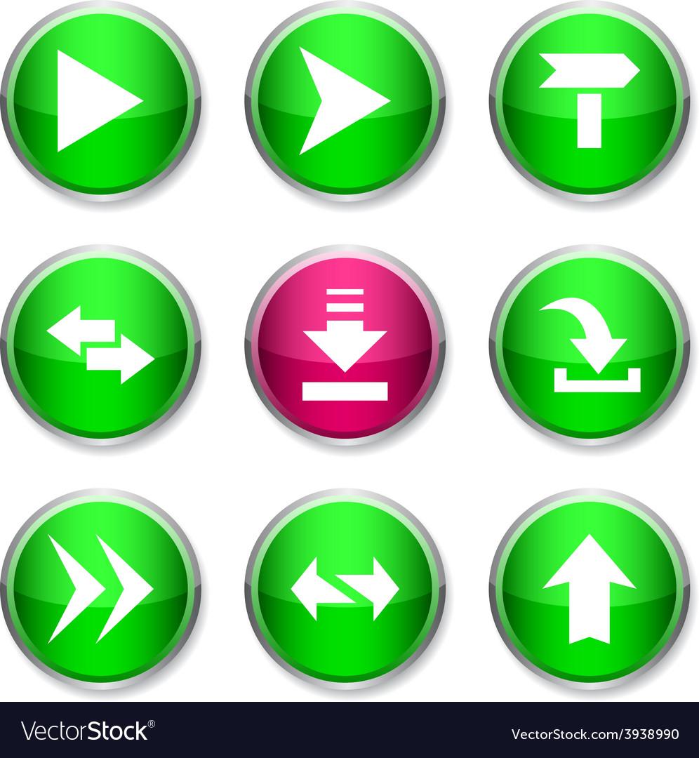Arrows round icons vector | Price: 1 Credit (USD $1)