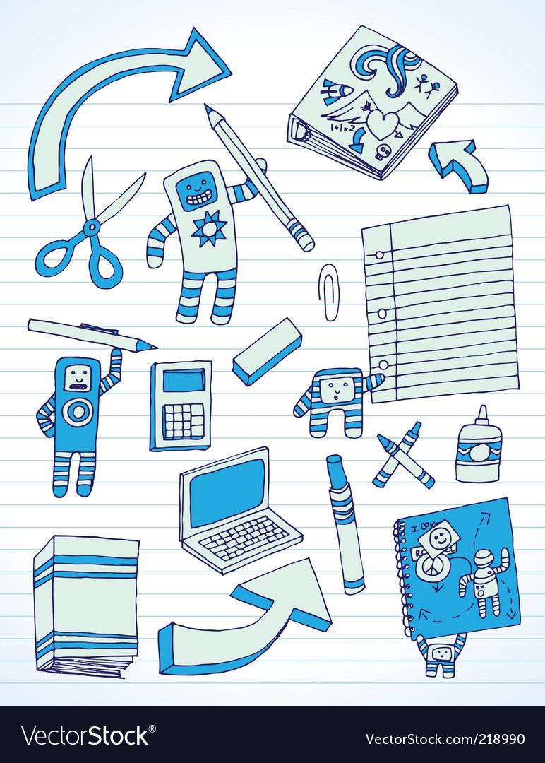 Back to school doodles vector   Price: 1 Credit (USD $1)