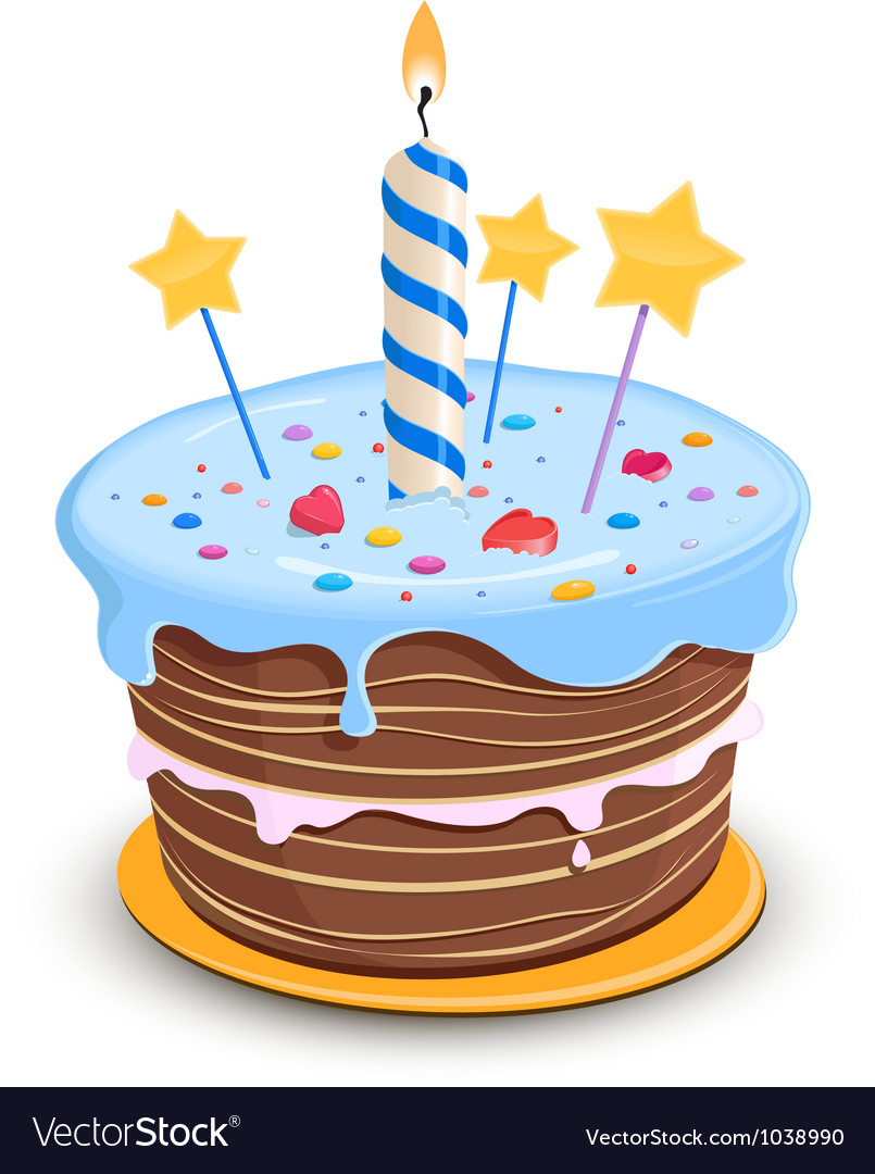 Happy birthday cake vector | Price: 1 Credit (USD $1)