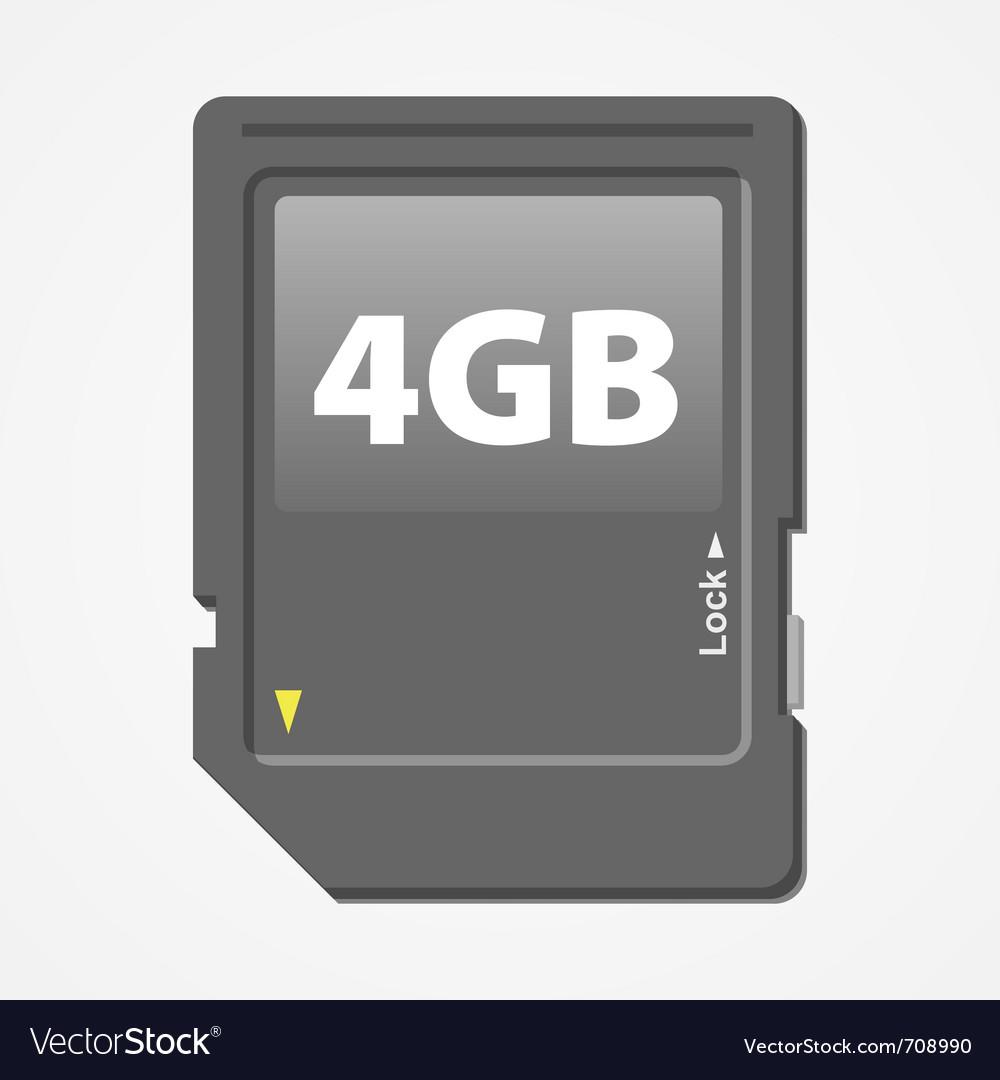 Memory card vector | Price: 3 Credit (USD $3)