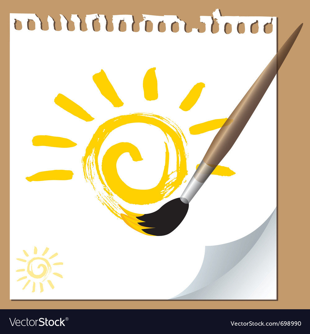 Sun painted vector | Price: 1 Credit (USD $1)