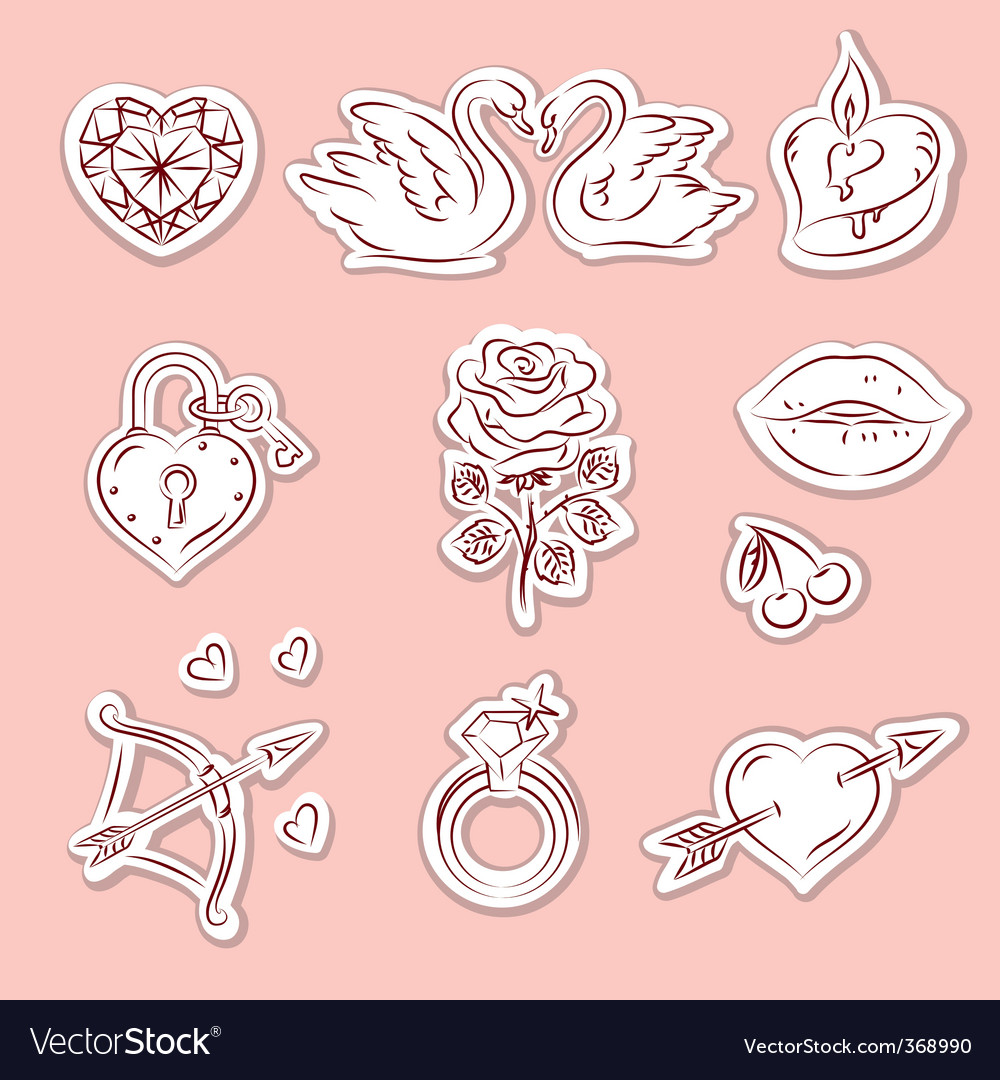 Valentine design elements 2 vector | Price: 1 Credit (USD $1)