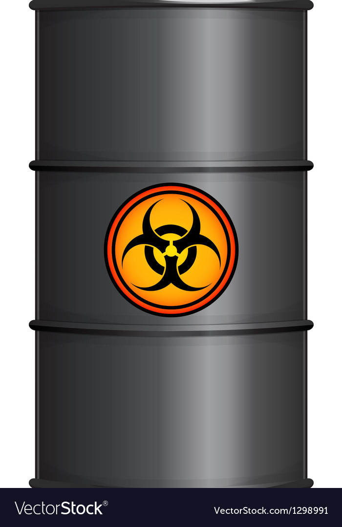 Black barrel with biohazard sign vector | Price: 1 Credit (USD $1)
