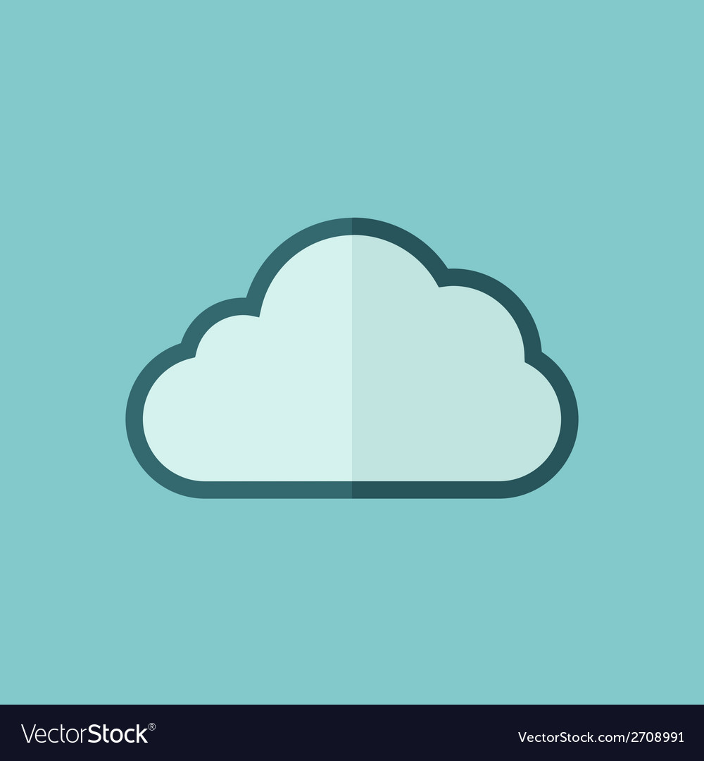 Cloud flat icon vector | Price: 1 Credit (USD $1)
