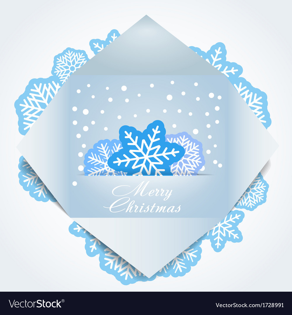 Color polygonal christmas greeting card vector | Price: 1 Credit (USD $1)